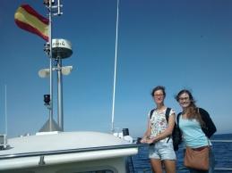 En el barco rumbo de la isla de Ons